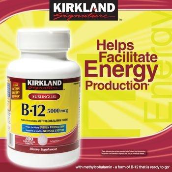 Kirkland Sublingual B-12 5,000 mcg - 2 Bottles, 300 Tablets Each