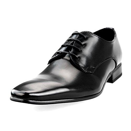 MM/ONE Oxford Shoes Men's Shoes Big size KingSize Longnose Lace-up Plain toe Black 50 EU (US Men's 14 M) (Target Ballet Flats compare prices)