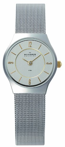 Skagen 233XSGSC Ladies Watch with Stainless Steel Strap