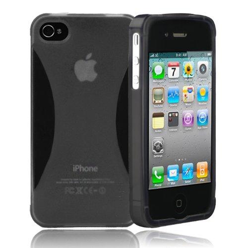 splash VAPOR Slim-Fit Flex Case for iPhone 4 4S AT&T and Verizon (BLACK)
