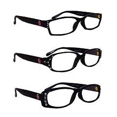 Oklahoma Sooners Ladies Black Rhinestone Reading Glasses by GentryUSA