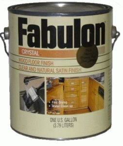 Fabulon Crystal Waterbased Wood Floor Finish - Satin - Gallon