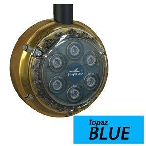 The Amazing Quality Bluefin Led Piranha Dl6 Surface Mount Underwater Led Dock Light - 2500 Lumens - Topaz Blue