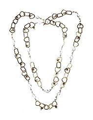 Amethyst By Rahul Popli White Silver Chain Earrings - B00OYUH0NW