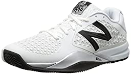 New Balance Men\'s MC996 Lightweight Tennis Shoe, White, 10.5 2E US