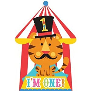 Fisher Price Circus 1st Birthday Invitations (8) Invites Birthday Party Supplies by Amscan