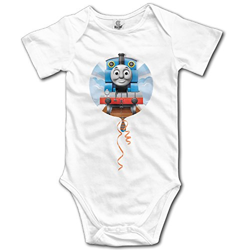 LALayton Thomas And Train Funny For Climbing Clothes Infant Rompers - White