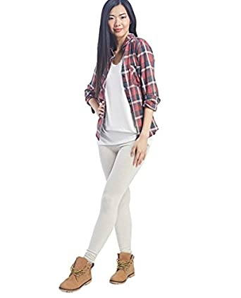 Wet Seal Women's Heathered Ankle Leggings XS Oatmeal Heather