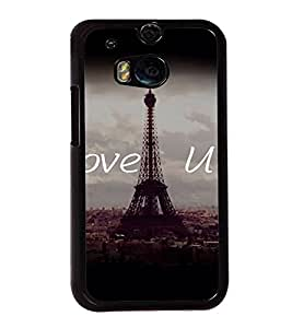 Fuson Premium 2D Back Case Cover Ilove you With Multi Background Degined For HTC One M8::HTC M8