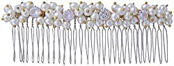 Pink Rose - Complement Collection White Pearl Alloy Royal Charm Hair Clip For Women