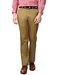 Peter England Khaki Trousers - B01CGMY780