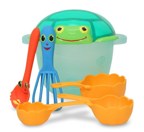 Melissa & Doug Sunny Patch Seaside Sidekicks Sand Baking Set back-365722