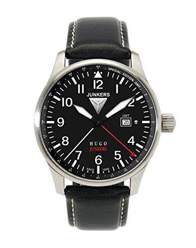 Junkers 66442 - Orologio da polso uomo, pelle, colore: nero