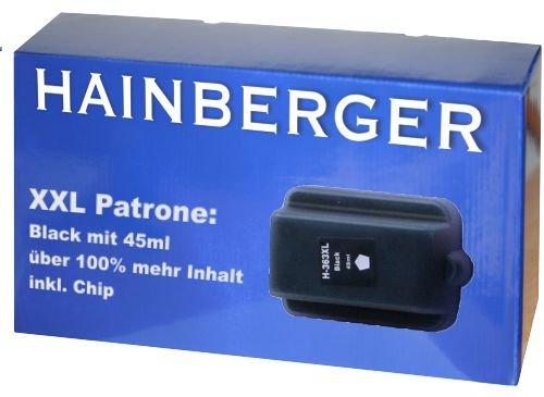 Hainbergerkompatible XXL Tintenpatrone 45ml 1x Schwarz für HP 363 Serie 363BK für HP Photosmart C5190 C5194 C5150 C5160 C5170 C5173 C5175 C5183 C5185 C5188 C5190 C5194 C6150 C6160 D6160 D7145 D7155 D7160 D7163 D7168 D7180 D7183 D7260 D7280 D7300 D7345 D7355 D7360 D7363 D7368 D7460 D7463 D7468 Photosmart 3100 3110 3200 3210 3310 C5180 C6160 C6180 C7180 8200 8238 8250