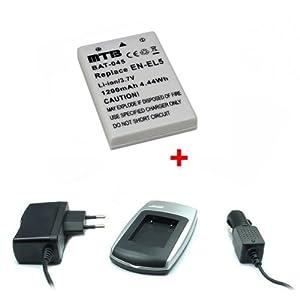 Batería + Cargador EN-EL5 para Nikon Coolpix P80, P90, P100, P500, P510, P5000
