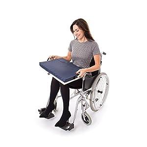 66Fit Gel-Sitzkissen/ Rollstuhlkissen 40 x 45 x 7 cm, blau/weiß