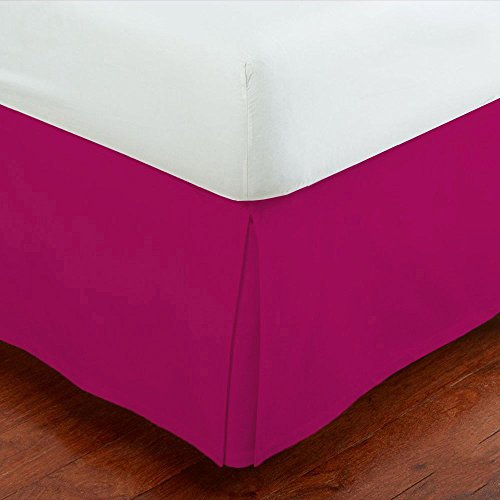 Mk Collection Solid Pleated Bed Skirt (Hot Pink, Full) (Hot Pink Bed Skirt compare prices)