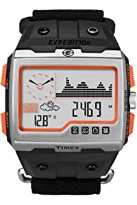 Timex T49665EW Mens Expedition WS4 Black Fast Wrap Watch
