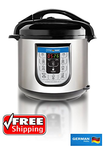 German Pool® 8 Litre Ultimate Rice Cooker Combining Pressure Cooker, Vacuum Thermal Pot & Electric Stewing Pots in One (Thermal Pressure Cooker compare prices)