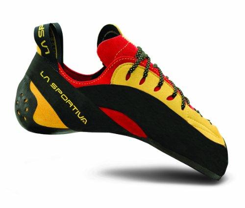 La Sportiva Testarossa Vibram XS Grip2 Climbing Shoe Red/Yellow, 34.5