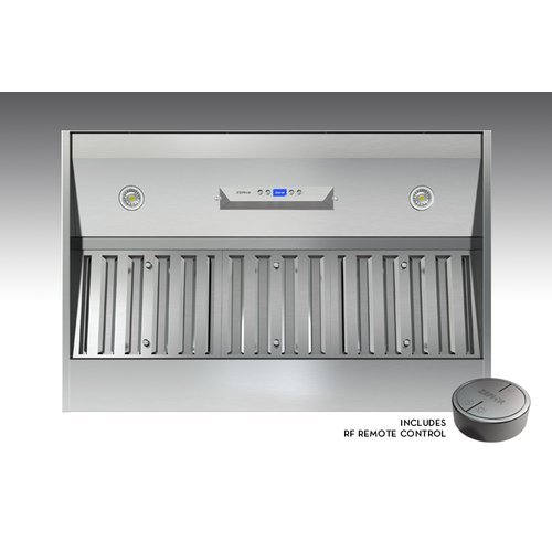 Zephyr Ak9428As 715 Cfm 30 Inch Wide Insert Range Hood With Rf Remote Control, B, Stainless Steel