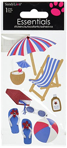 Sandylion On The Beach Essentials Sticker, Large
