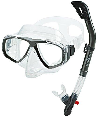 Aqua Lung Sport Purge Mask Snorkel Set, Silver