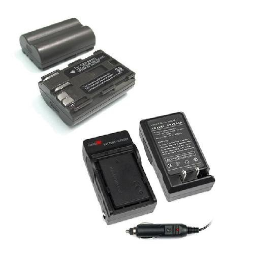 Lithium-Ion Battery + Battery Charger with Car Adapter for Canon Digital SLR EOS 40D / EOS 50D