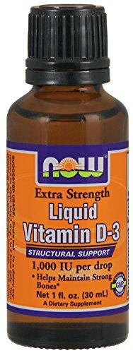 Now Foods Ex Str Liquid Vitamin D-3 1,000 IU Drop, 1 Ounce (Liquid Vitamin D3 1000 Iu compare prices)