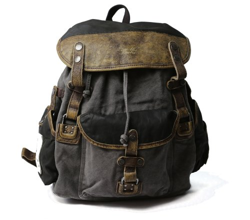 B00DTW9EC6 Backpack classic Genuine Leather & Canvas
