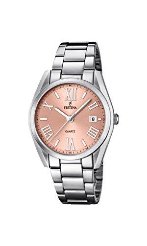 Festina  0 - Reloj de cuarzo para mujer, con correa de acero inoxidable, color plateado
