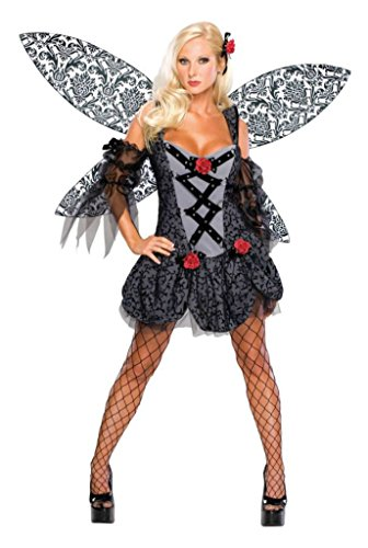 Rubies Womens Gothic Dark Pixie Spoiled Fairy Theme Party Halloween Costume