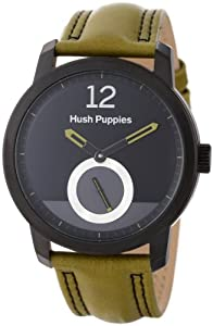 Hush Puppies Freestyle Men's Automatic Watch with Black Dial Analogue Display and Green Leather Strap HP.3780M.2511