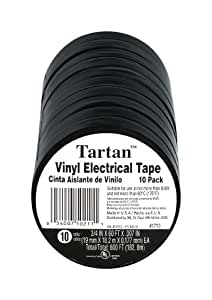 50211-DA-10 Tartan 1710 Electrical Tape, 3/4-Inch by 60-Foot by 0.007-Inch