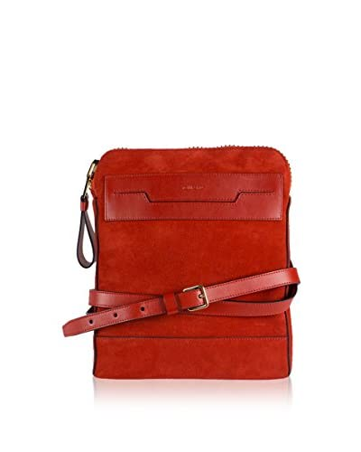 Tom Ford Men's Small Suede Leather Messenger Bag, Red