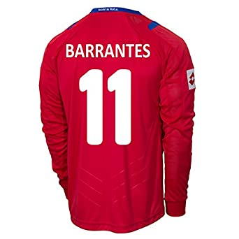 Buy Lotto BARRANTES #11 Costa Rica Home Jersey World Cup 2014 (Long Sleeve) by Lotto