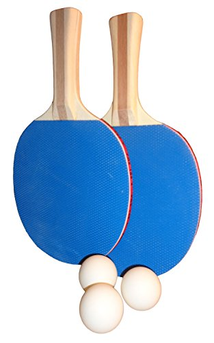 PowerthonTM Ping Pong Paddles - Set of 2 Recreational Table Tennis Paddles with 3 Celluloid Ping Pong Balls