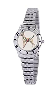 American Kennel Club Women's D1635S244 Great Dane Silver-Tone Expansion Band Watch