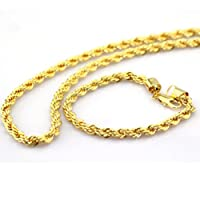 "Twisted 24K Yellow Gold Plated Rope chain Necklace+Bracelet Sets Mens jewelry set 24"" 6mm 70g from sets"