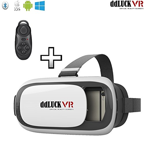 ddLUCK VR BOX II with Wireless Gamepad VR Virtual Reality 3D Glasses For 4.7 to 6 Inch Smartphones Pack of VR BOX II + Wireless Gamepad