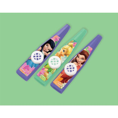 Disney Fairies Party Favors - 3 Assorted Kazoos