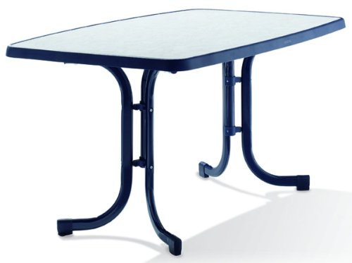 gartenm bel preisvergleich sieger gartentisch oval 90x150 cm blau stahlrohrgestell blau. Black Bedroom Furniture Sets. Home Design Ideas