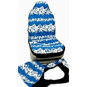 hawaiian car seat covers blue blue flower. Black Bedroom Furniture Sets. Home Design Ideas