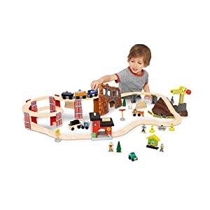 imaginarium wooden spiral train set instructions