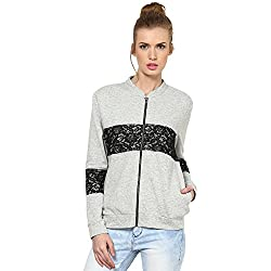 Kaxiaa Blended Grey Sweat Shirt For Women (Size-X-Large)