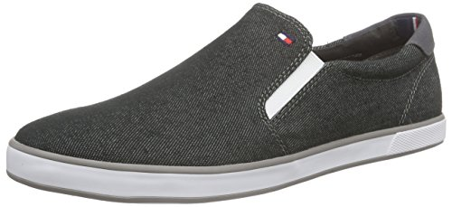 Tommy Hilfiger Scarpe Low-Top, Uomo, Grigio (Black Denim 070), 44