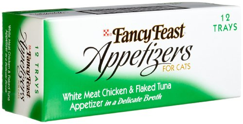 Fancy Feast Appetizers for Cats, White Meat Chicken &  Flaked Tuna, 2-Ounce Tubs (Pack of 12)