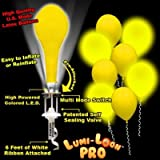 Lumi-Loons Balloon Lights Yellow Balloons White Lights - 10 Pack