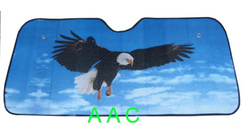 Automotive Windshield Sun Shade - Bold Eagle