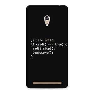 Enticing Programer Life Back Case Cover for Zenfone 6